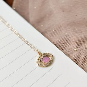 Opal Evil Eye Necklace on 14k gold filled chain